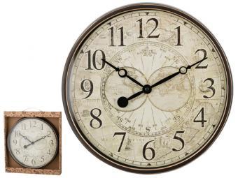 Часы настенные кварцевые ''World map'' 30*30*4см