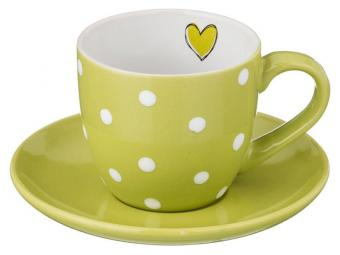 Чайный набор Горошек на зеленом 220мл 12пр на 6 персон Арти-М