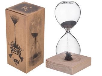 Часы песочные на подставке 16,5*6 см