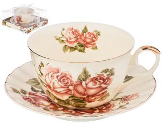 Чайный набор 2 пр Корейская роза 250мл