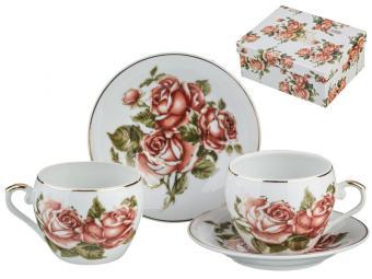 Кофейный набор 4 пр Корейская роза 2 персоны 100мл