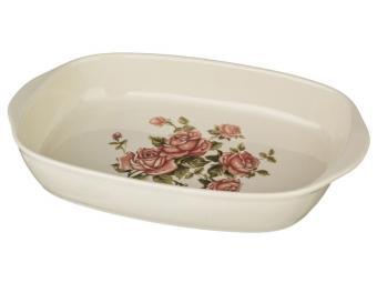 Блюдо шубница Корейская Роза 29*18*5см