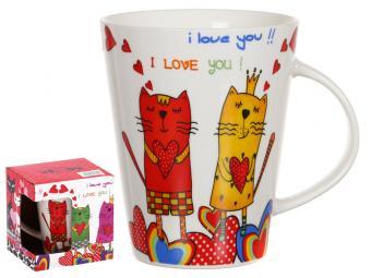 Кружка Кошки I love you 350мл