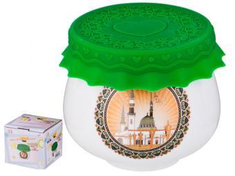Баночка для меда и варенья с силиконовой крышкой ''Сура'' 180мл