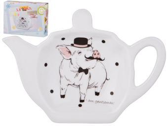 Подставка для чайного пакетика Мистер Свин 13*9*2см
