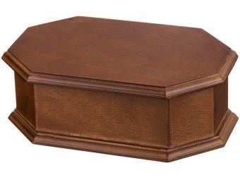 Шкатулка для украшений коричневая с зеркалом 20*13*6,8см