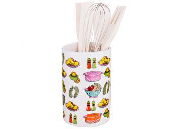 Подставка для кух.принадлежностей ''Vegetable'' 10*10*15,5см