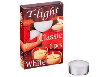 Свечи плавающие 6шт ''Classic'' (белые)