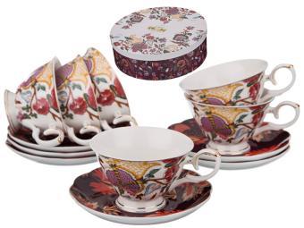 Чайный набор Дивные цветы 12пр 6 персон 200мл