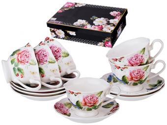 Чайный набор 12пр 6 персон Розы 200мл