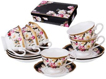 Чайный набор 12пр 6 персон Чайные розы 200мл