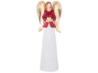 Фигурка Ангел с золотыми крыльями 18*6*3см
