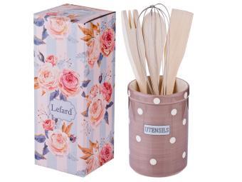 Подставка для кухонных принадлежностей ''Pink utensils''