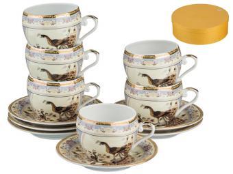 Кофейный набор Павлин 12пр 6 персон 100мл 541265