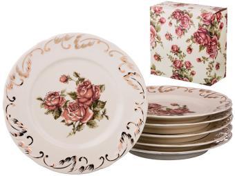 Набор тарелок 20,5см 6шт ''Корейская роза''