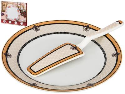 Блюдо для торта с лопаткой 23см 389-515 Арти-М