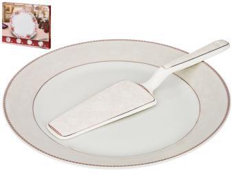 Блюдо для торта с лопаткой 23см 389-506