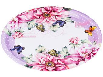 Поднос стальной 40см Flowers Agness 541432