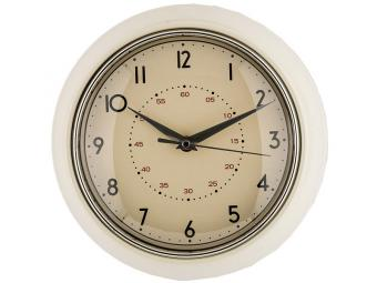 Часы настенные кварц. ''Lovely home'' 23,5*23,5*6см (кремовый)