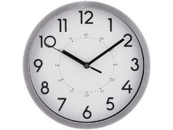Часы настенные кварц. ''Lovely home'' 25,4*25,4*4,2см (хром)