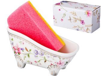 Подставка для губки Луговые цветы с губкой