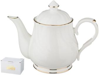 Чайник заварочный 600мл Бланш белый с золотом