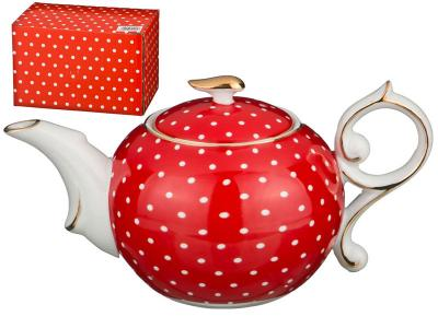Чайник заварочный Горох на красном 300мл Арти-М
