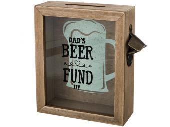 Копилка для пробок ''Фонд папиного пива'' 21*22*7см