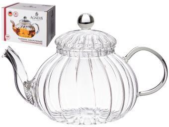 Чайник заварочный 800мл Agness с фильтром из нжс