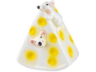 Копилка ''Мышки в сыре'' 9,5*7,5*11,2см