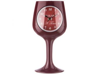 Часы настенные кварц Chef kitchen красный