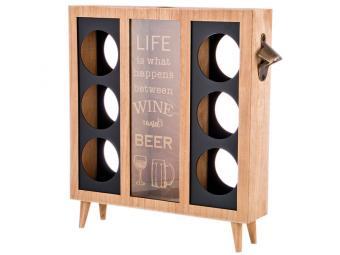 Подставка под бутылки ''Beer'' 36*8*38см