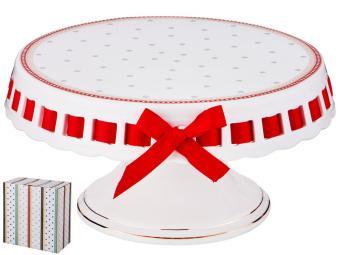 Блюдо для торта на ножке 25*14см