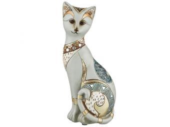 Фигурка ''Кошка золото'' 10*7*23см коллекция ''Чарруа''