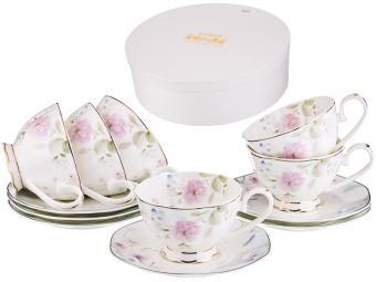 Чайный набор 12 предметов 250мл Нежные цветы