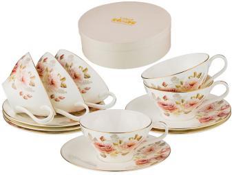 Чайный набор 12 предметов 220мл Анджи