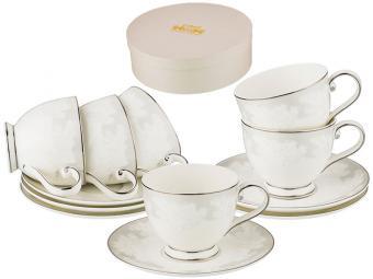 Чайный набор 12 предметов 250мл Кружево