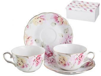 Чайный набор 4 предмета 220мл Нежные цветы