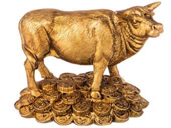 Фигурка Корова ''К деньгам'' цвет бронза 6,7*4,5*8,3см