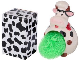 Подставка для губки ''Корова-повар'' 8,5*7,6*12,7см