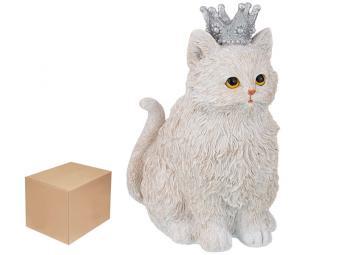 Фигурка ''Кошка белая в короне'' 13,5*10,5*18см