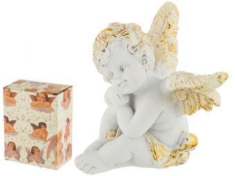 Фигурка Купидон мечтает коллекция ''Amore'' 6,5*4.5*6см