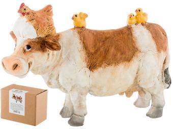 Фигурка ''Веселая корова с цыплятами'' 10*4*7см