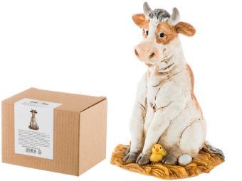 Фигурка ''Веселая корова в гнезде'' 6*6*9см