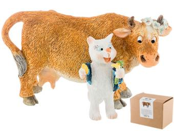 Фигурка Корова и кот по мотивам И.Зенюк