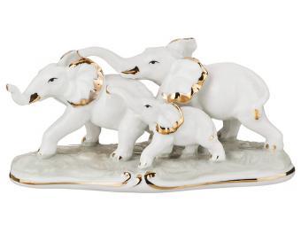 Фигурка Слоны семья 8см