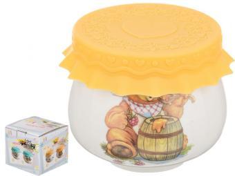 Баночка для меда и варенья 180мл Медведь