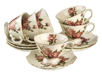 Чайный набор Корейская Роза на 6 персон