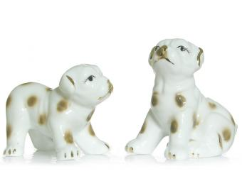 Фигурка фарфоровая Собака набор 2шт