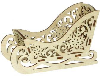Фигурка деревянная Сани малые узорные